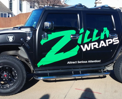 Black Satin Hummer Wrap