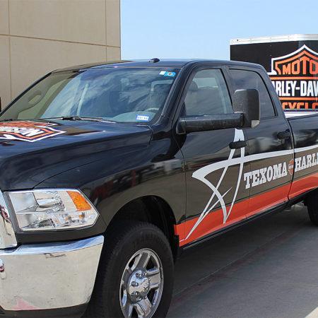 Harley Davidson Truck Wrap