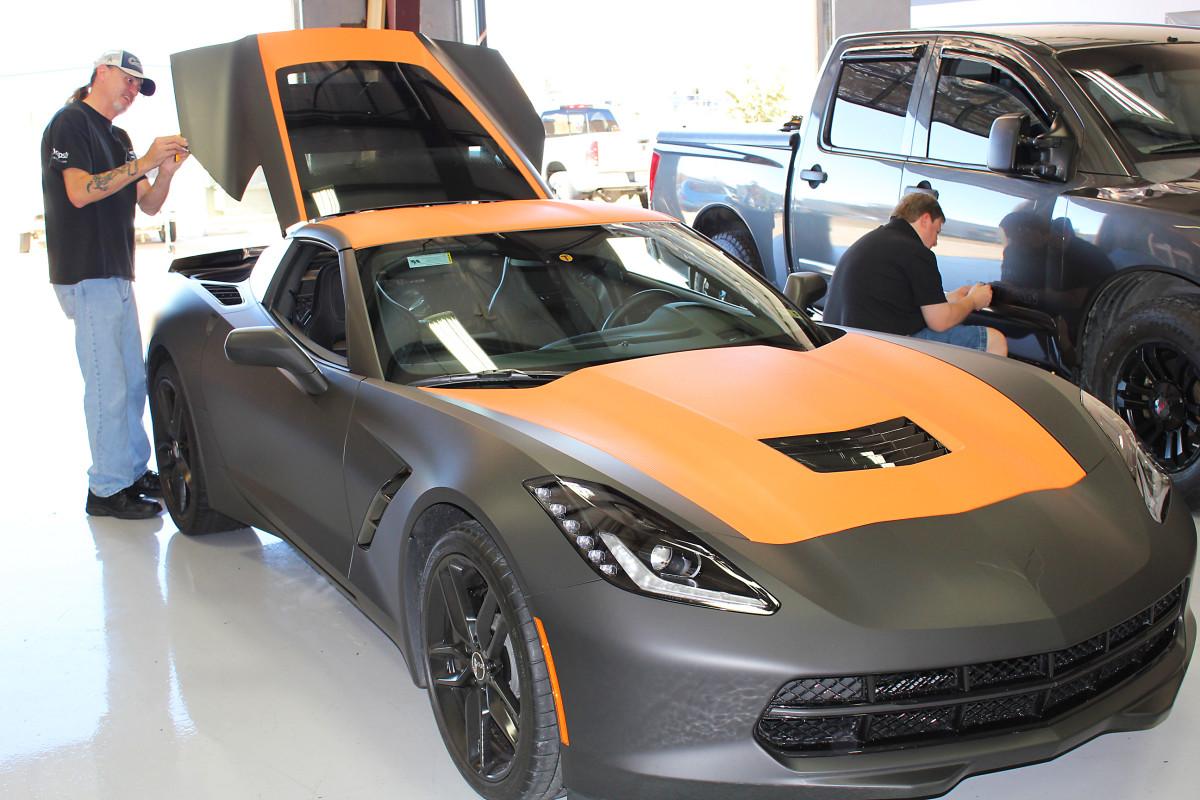 matte carbon corvette