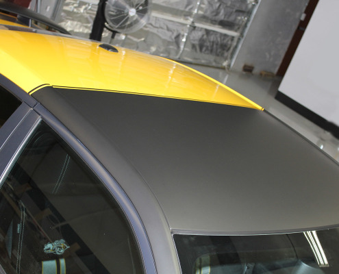 Matte Black Wrapped Roof