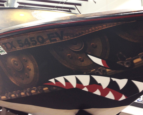 Flying Tigers Boat Wrap
