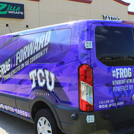 TCU Van Wrap Fort Worth