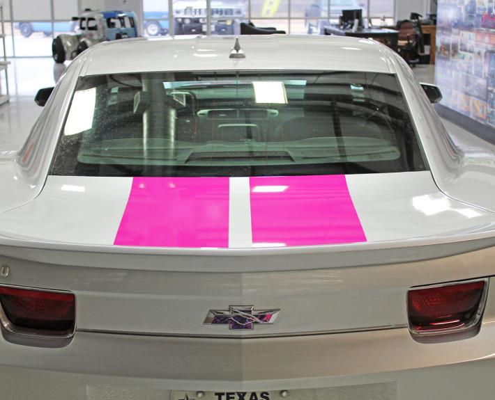pink rally stripes