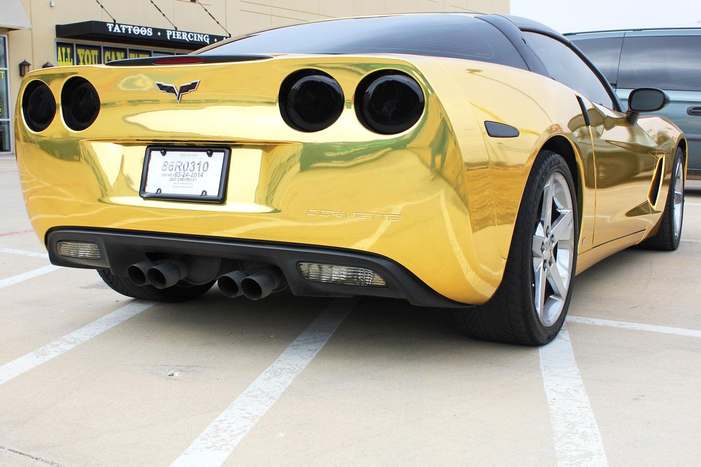 Gold Chrome Wrap Gold Chrome Wrap Corvette