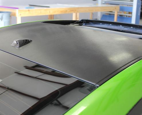 Brushed Metallic Roof Wrap