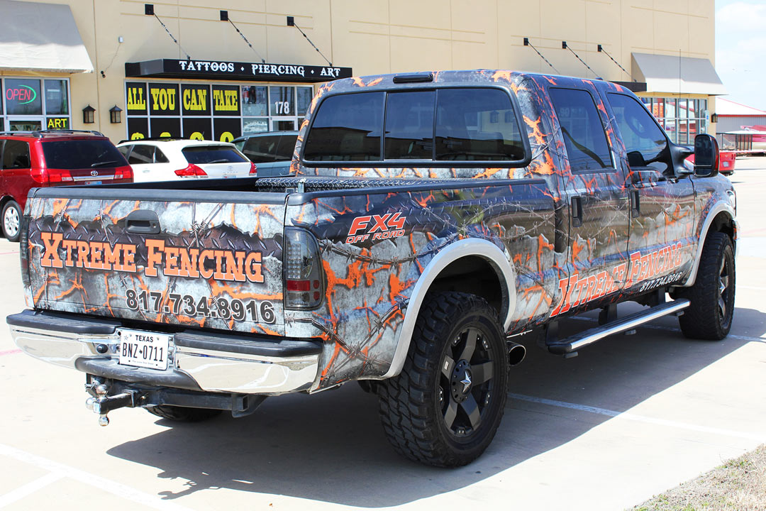 Xtreme Truck Wrap Fort Worth Zilla Wraps