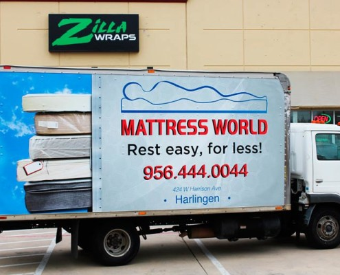 Wrapped Box Truck