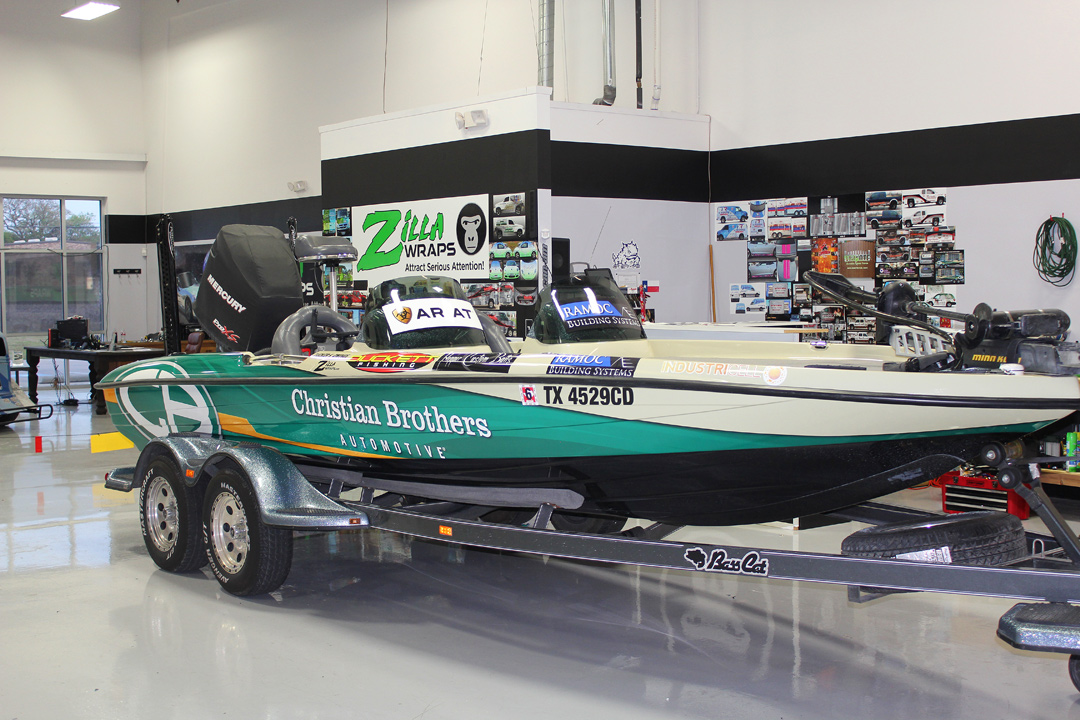 Boat wraps dfw zilla wraps for Fishing boat wraps