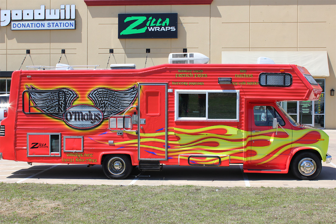 Food Truck Wrap Dallas Zilla Wraps