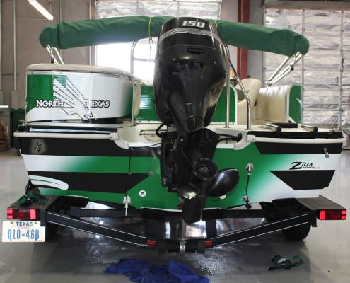 Mean Green Boat Wrap