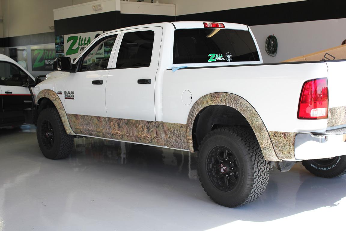 Mossy Oak Camo Truck Wrap