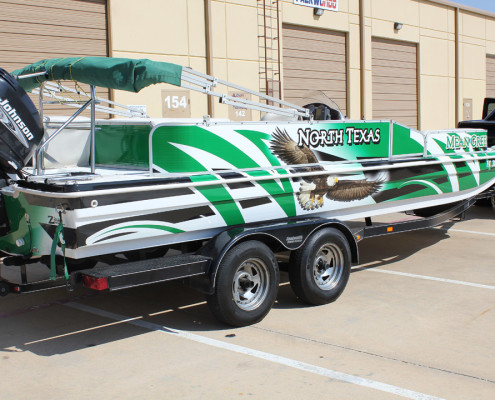 NTU Mean Green Boat Wrap