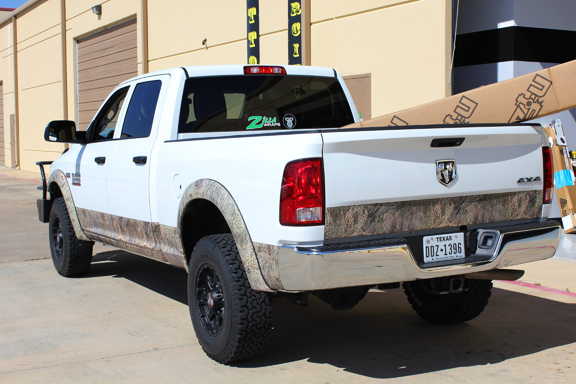 camo truck wrap fort worth zilla wraps. Black Bedroom Furniture Sets. Home Design Ideas
