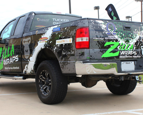 Fishing Sponsor Truck Wrap DFW