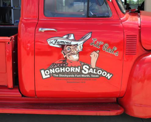 Longhorn Saloon Truck Graphics