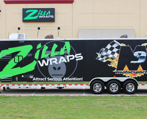 M3 Zilla Race Trailer Wrap