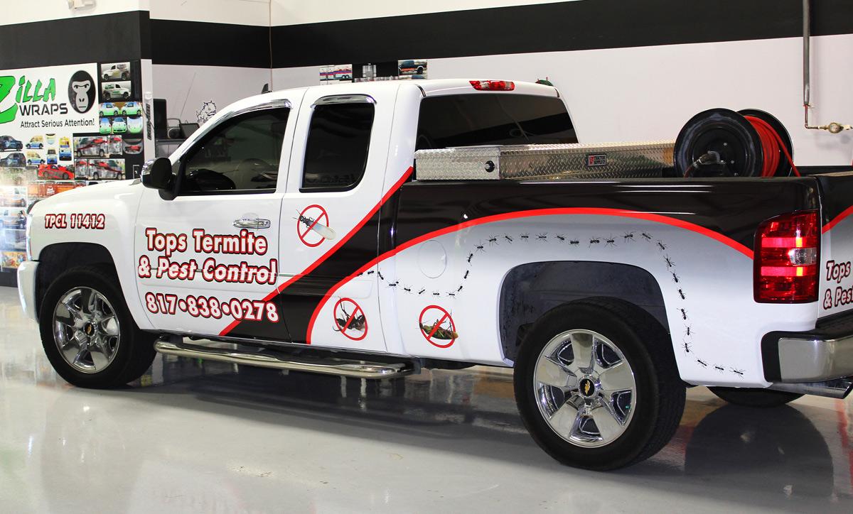 Pest Control Truck Wraps Zilla Wraps