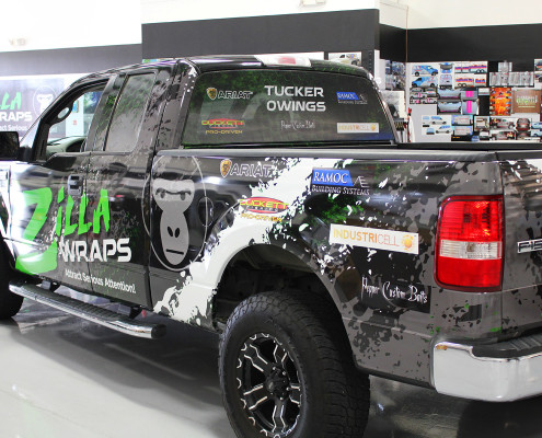 Sports Sponsor Truck Wrap