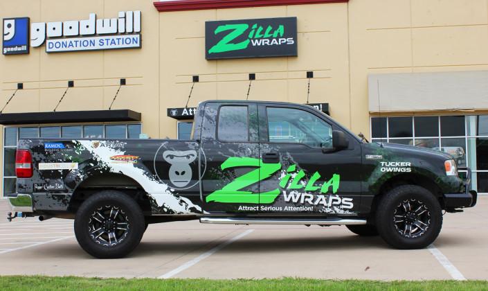 Zilla Wraps Truck Wrap