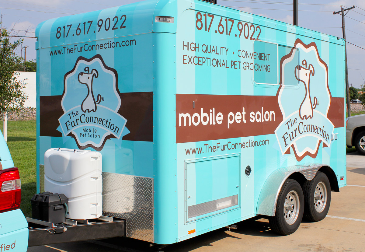 how to build a mobile grooming trailer