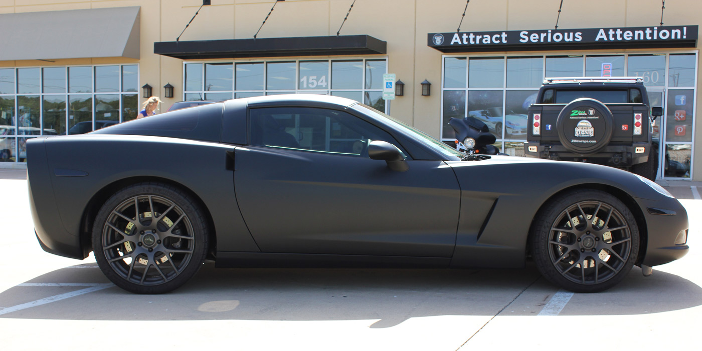 Matte Black Car Wraps Dallas Zilla Wraps