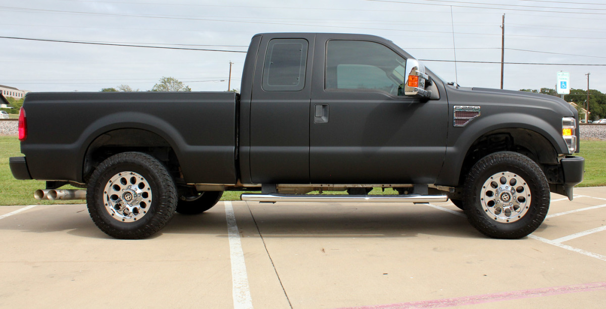 F250 Matte Black Wrap Zilla Wraps
