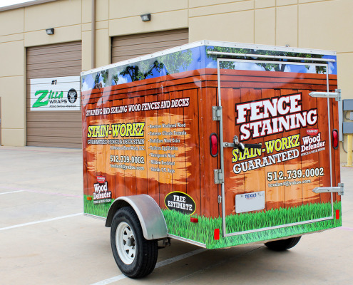 Fence Staining Trailer Wraps