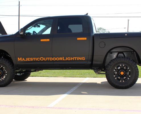 Flat Black Truck Wrap
