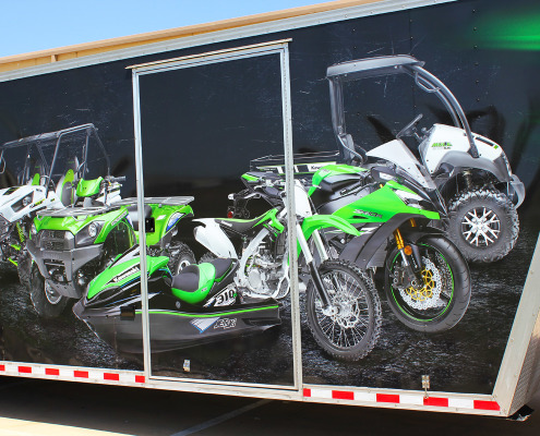 Kawasaki Trailer Wrap Dallas
