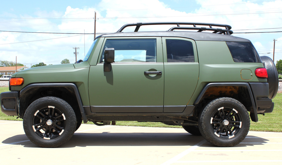 Matte Green Vehicle Wrap Dallas Zilla Wraps