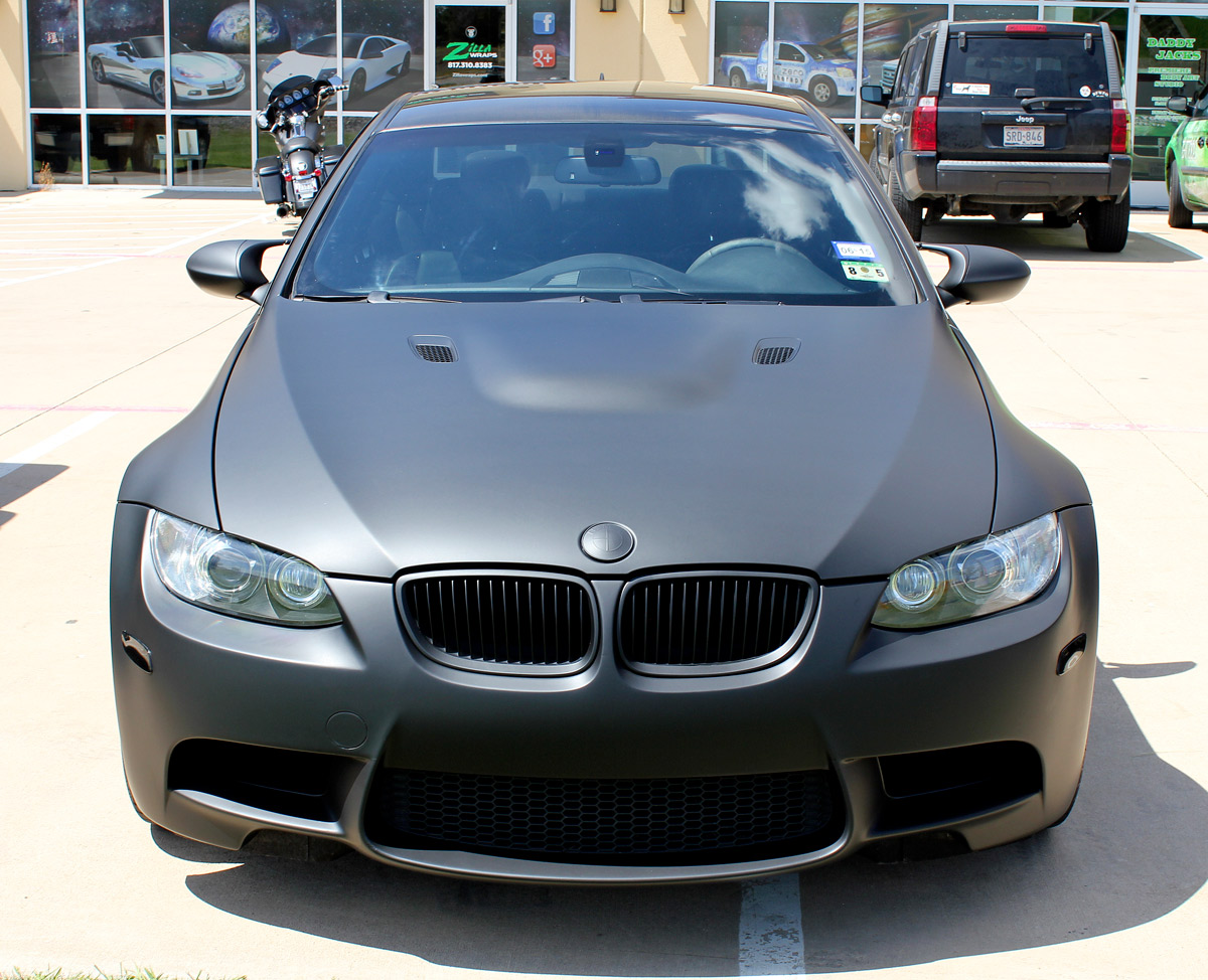 Matte Black Bmw >> Matte Black Bmw Car Wrap Dallas Zilla Wraps