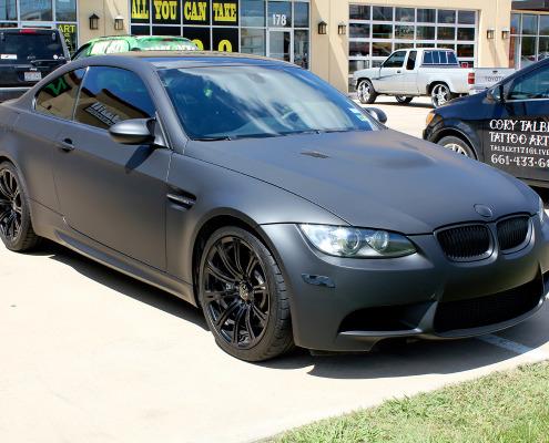 Matte Black BMW Dallas