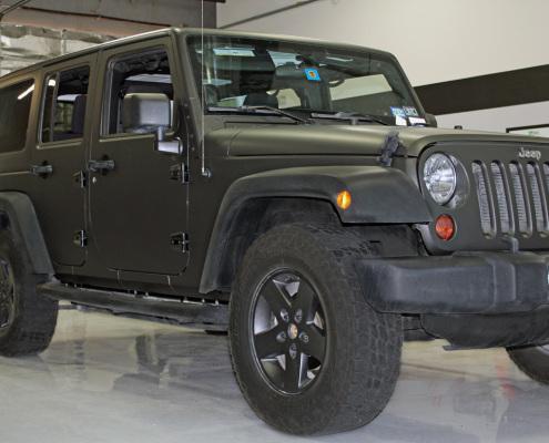 Matte Black Jeep Wrangler