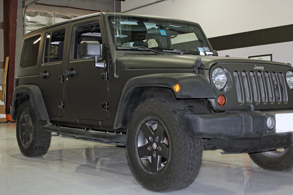 Jeep Matte Black >> Matte Black Wrap Jeep Wrangler Zilla Wraps