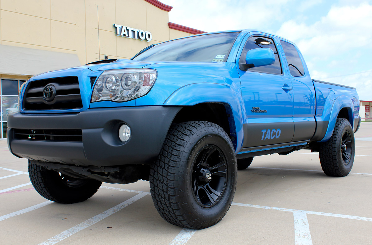 Toyota Dakota Matte Black Truck Rockers - Zilla Wraps