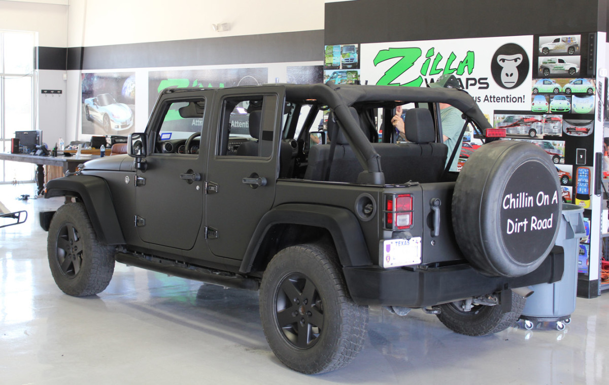 Jeep Wrangler Rubicon Matte Black Matte Jeep Wrangler Wraps