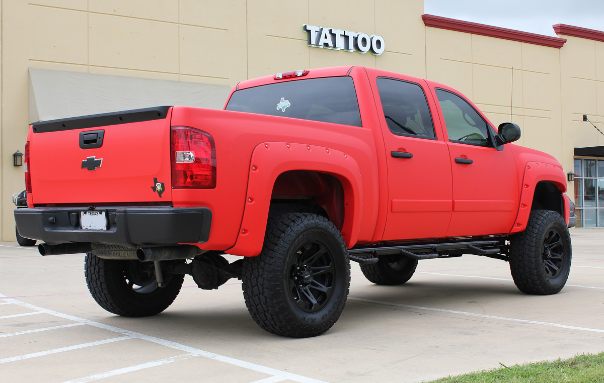 Matte Red Truck Wrap Zilla Wraps