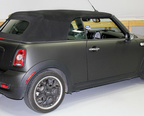 Mini Cooper Dallas >> Matte Black Mini Cooper Car Wrap - Zilla Wraps