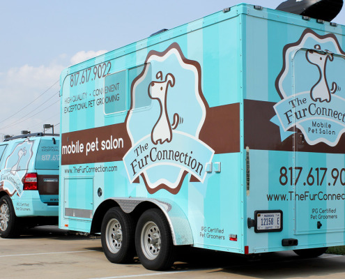 Pet Grooming Trailer Wrap Zilla Wraps