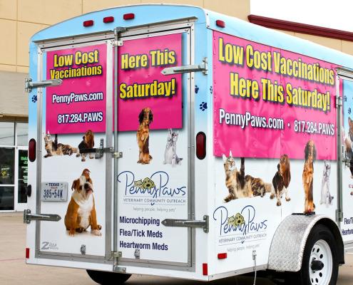 Pet Services Trailer Wrap