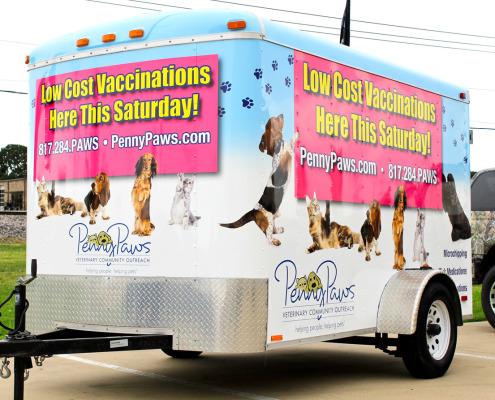Pet Services Trailer Wrap DFW