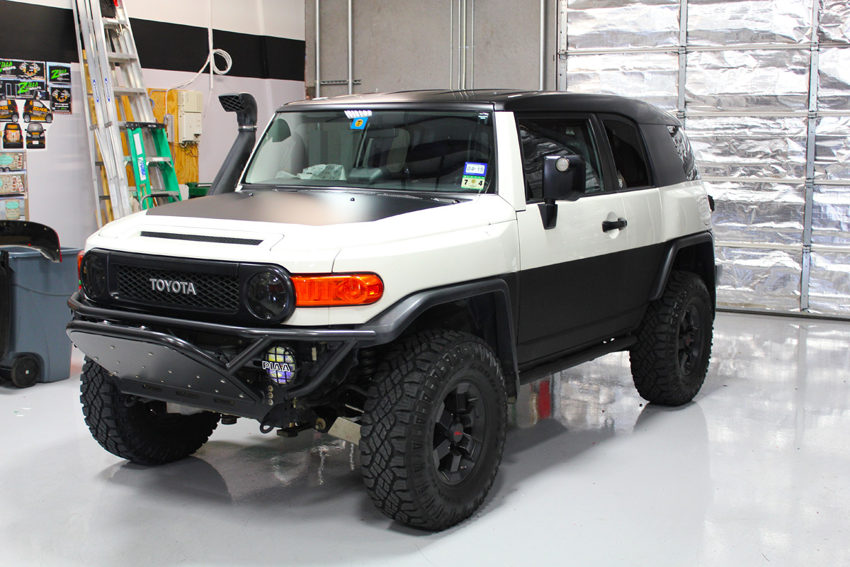 Black Satin Roof Wrap Fj Cruiser Zilla Wraps