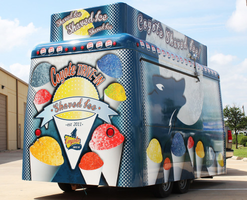Sno Cone Trailer Wrap