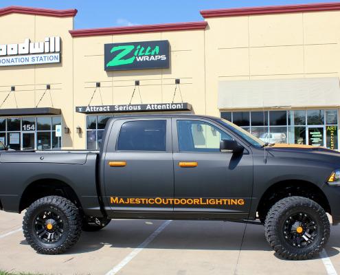 Zilla Wraps Flat Black Truck