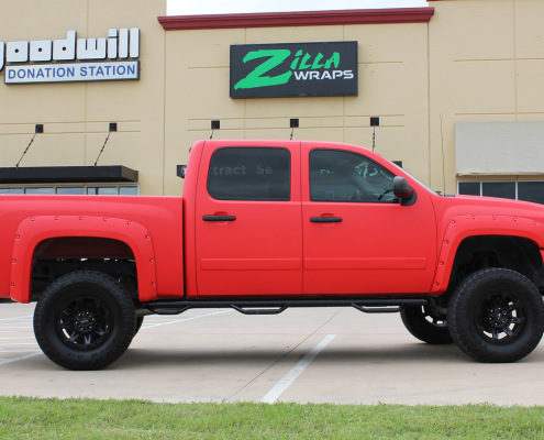 Zilla Wraps Matte Red Truck