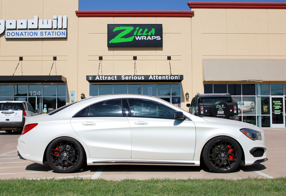 Mercedes Car Wrap Satin White Pearl Zilla Wraps