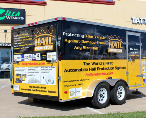 Zilla Wraps Trailer Advertising Wraps Dallas