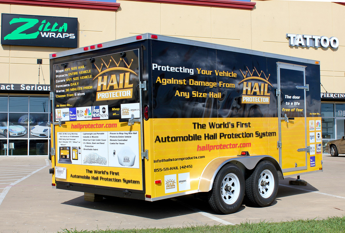 Hailstorm Trailer Wrap Dallas Tx Zilla Wraps