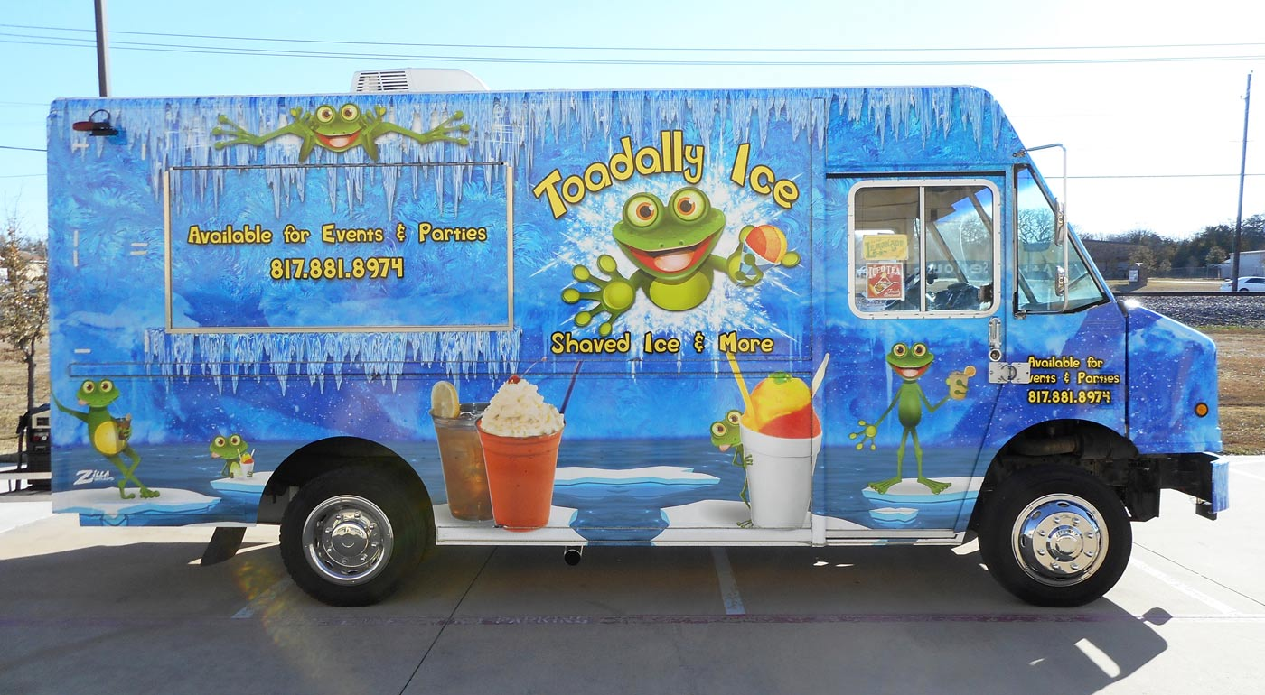 Toadally Ice Food Truck Wraps