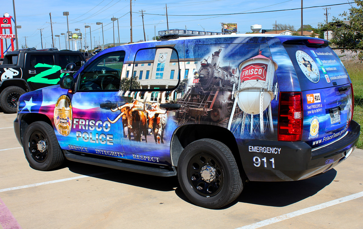 Police Car Graphics Wraps Zilla Wraps